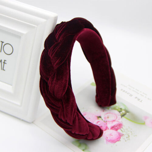 Women/'s High-grade Velvet Braided Headband Hairband Hair Band Hoop Accessories