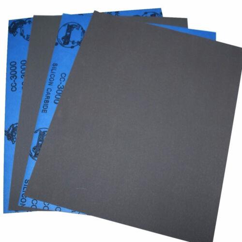 Dry//Wet Sandpaper Sheets 800//1000//1500//2000//2500//3000 Grit 9/'/'x11/'/' 230x280mm