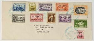 Rare-Scott-485-94-E6-Victory-Overprint-Philippine-Set-Surrender-Of-Japan-VJ-Day