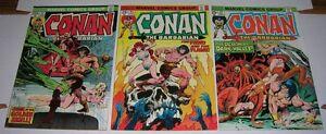 CONAN-THE-BARBARIAN-s-37-44-amp-45-Marvel-Comics-1974-Neal-Adams-issues-FN