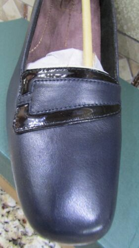 NEW CLARKS LEVEE DELTA NAVY PUMPS SHOES WOMENS 11 NAVY BLUE LEATHER