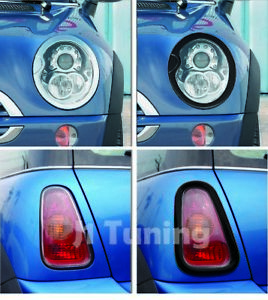 MINI Cooper MK1 02-06 R52S/R53S Headlight+Taillight Surround Rim-Gloss Black
