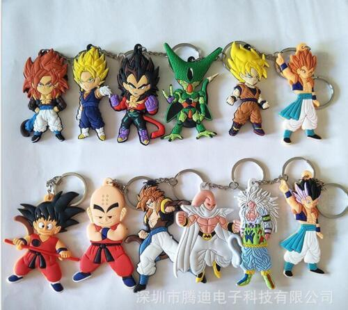 12pcs Dragon Ball son gokou silica gel key chain key chains ornament pendant