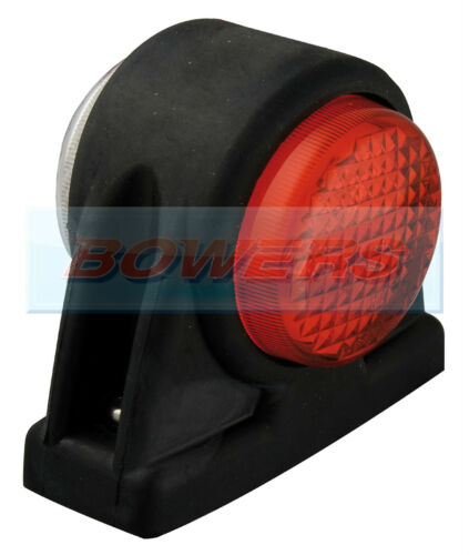 LED AUTOLAMPS 1004RWM 12V//24V RED//WHITE OUTLINE END FRONT REAR MARKER LAMP//LIGHT