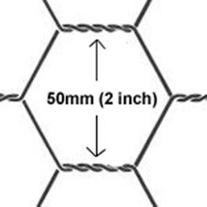 Chicken Wire mesh 1800mmX50mt 50mm Hole wire gauze 08mm eBay