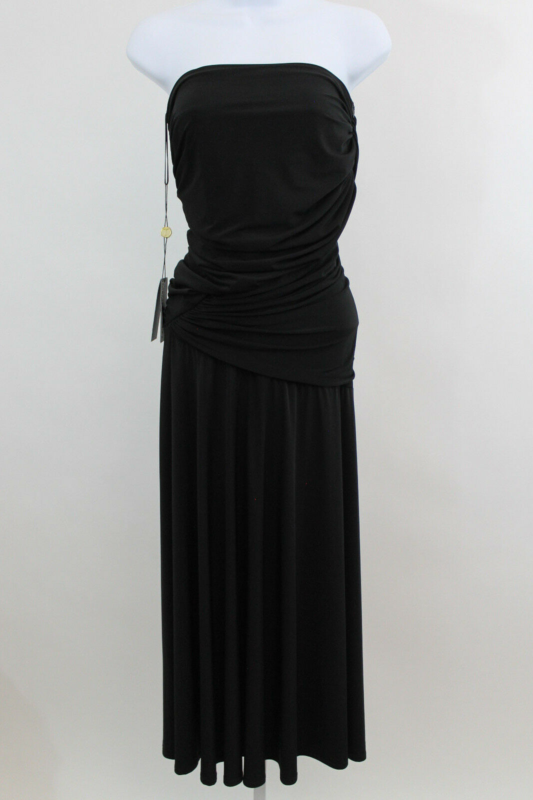 NEW Tadashi Shoji Draped Ruched Strapless Little schwarz Dress  SZ S NWT