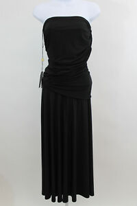 Nuevo S tirantes Tadashi con sin Shoji talla drapeado vestido pliegues negro rv0w4Pgrq