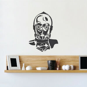 C3po Droid Wall Decal Star Wars Wallpaper Mural Vinyl The Last Jedi