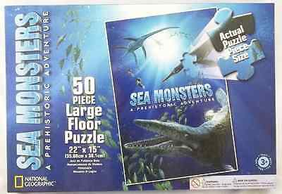 Wild Republic Sea Monsters Dinosaur 50 Piece Floor Puzzle