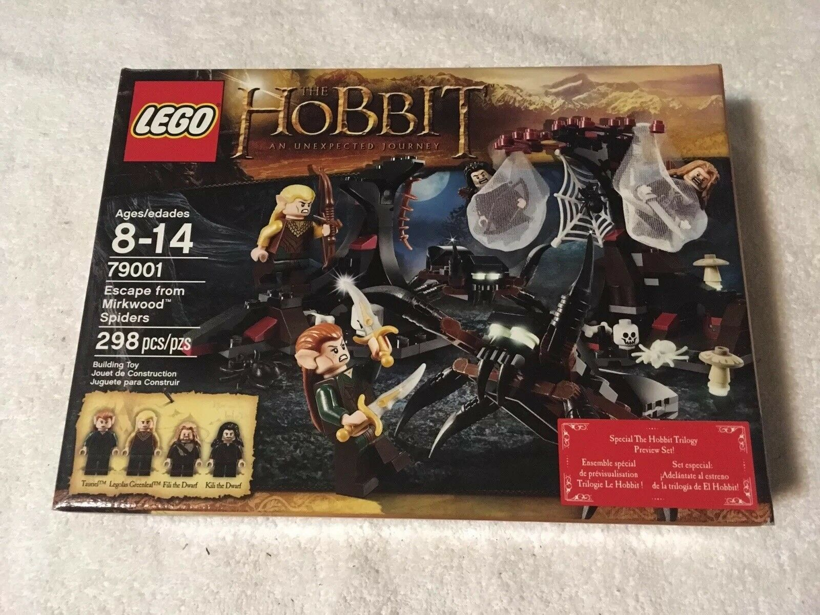 Lego 79001 hobbit an unexpected journey excape from mirkwood spiders new sealed