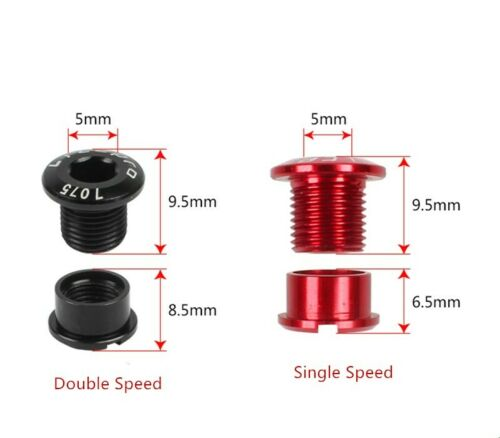 Litepro Aluminum Bicycle Chainring Screw Fasteners Bolts for Single Double Speed