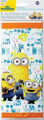 Minions Treat Bags Favors Cellophane Despicable Me Birthday Party Supplies16 PCS