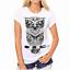 Moda-Mujeres-Mangas-Cortas-Camiseta-Camisas-Prendas-para-el-torso-Blusa-Informal-Camiseta-para-mujer miniatura 2