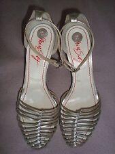 Miss SIXTY UK 6 EU 39 calzado de cuero de plata