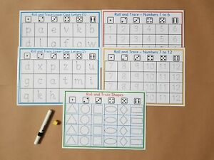 NUMBER COLOUR SHAPE 30 FLASH CARDS EYFS CHILDMINDER  EARLY LEARNING FUN RESOURCE