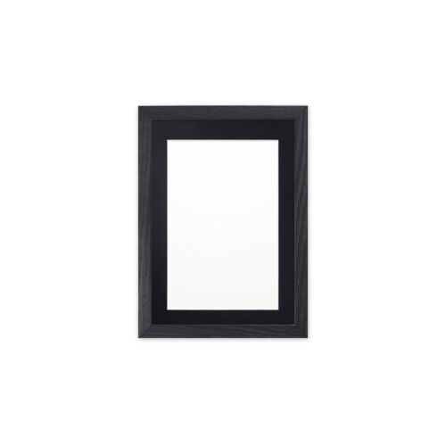 Confetti Wood  Range 20mm Picture Photo Poster Frame With Bespoke Mounts Black