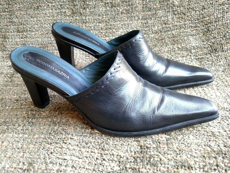 all'ingrosso a buon mercato BCBG Max Azria sleek sleek sleek nero leather high heels Dimensione 8.5 38.5  marche online vendita a basso costo