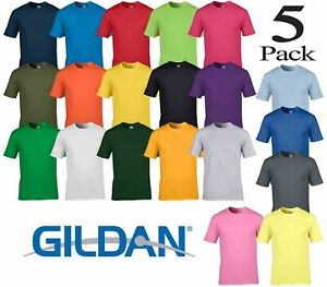 Pack-of-3-and-5-Gildan-Men-039-s-Soft-Style-Short-Sleeve-Best-Quality-Mens-T-Shirt