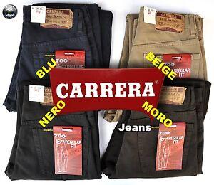PANTLONE CARRERA 5 TASCHE COTONE CHINOS 4 COLORI MIS 44 46 48 50 52 54 56 58 60