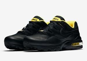 NIKE-AIR-MAX-94-SE-034-LIVESTRONG-034-AV8197-002-BLACK-TOUR-YELLOW-LEATHER-SUEDE-MESH