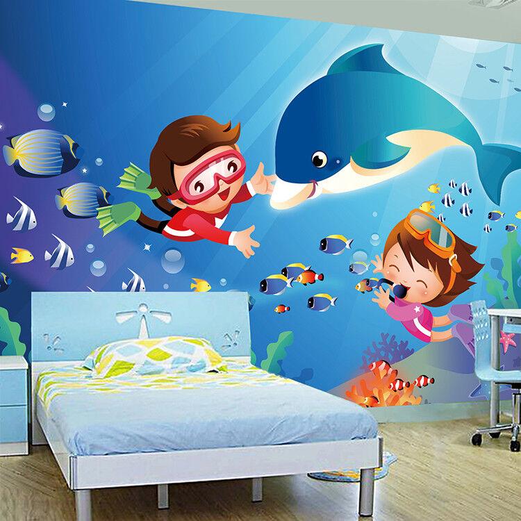 3D Kinder Aquarium 74 74 74 Tapete Wandgemälde Tapete Tapeten Bild Familie DE Summer | Neuer Stil  | Verpackungsvielfalt  | Abrechnungspreis  cf9b75