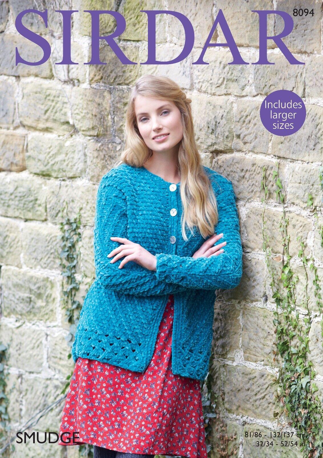 Sirdar-7871 Sirdar Ladies Jacket Smudge Knitting Pattern 7871 Chunky