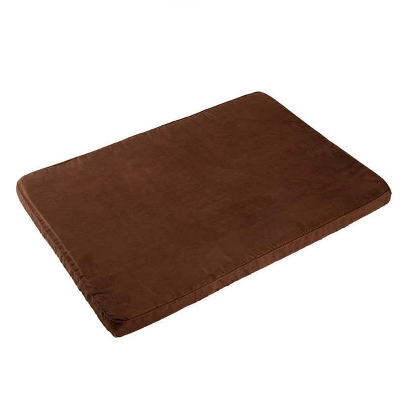 Soft Dog Mattress Bed Brown Offers Maximum Comfort Older Dogs with Joint Issues