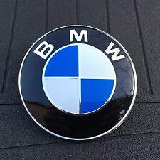 BMW BLUE WHITE LOGO 82MM (3 1/4 IN) HOOD ORNAMENT EMBLEM BADGE 2 PIN 1-6 EM110