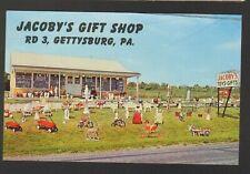 Unused Postcard Jacobys Gift Shop RD 3 Gettysburg Pennsylvania PA