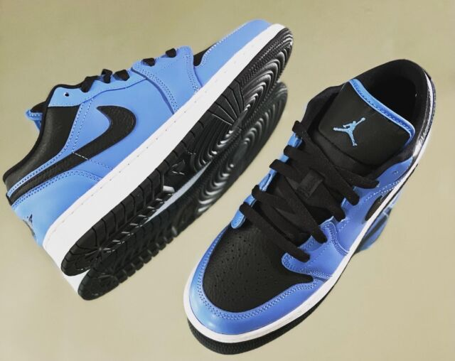 Nike Air Jordan 1 Low GS Size 7y University Blue Black 553560-403