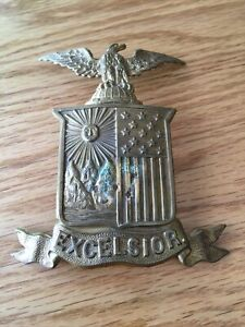 EXCELSIOR CIVL WAR NEW YORK BADGE FOR A SHAKO.