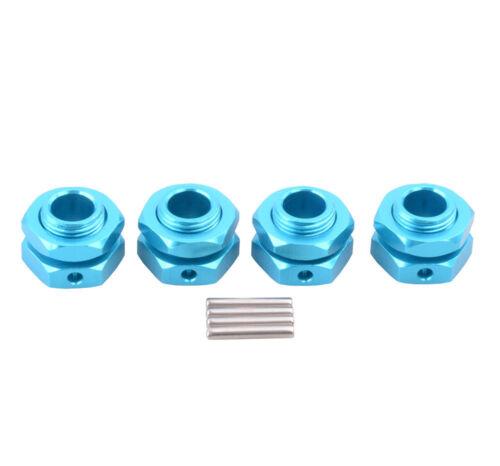 Aluminum 81011 17mm Wheel Hex Mount Nut/&Pin Blue Fit RC HSP 1//8 Nitro Car