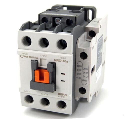 New Cerus Contactor Nema Size 1 40Amp 220VAC Coil *2 Year Warranty*