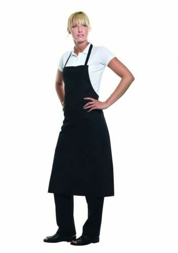Schwarzes wasserdichtes Chef Schürze Küche Metzger Kochen Catering Unisex