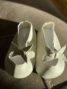American Girl Doll Rebecca Hanukkah Cream Bow Shoes New
