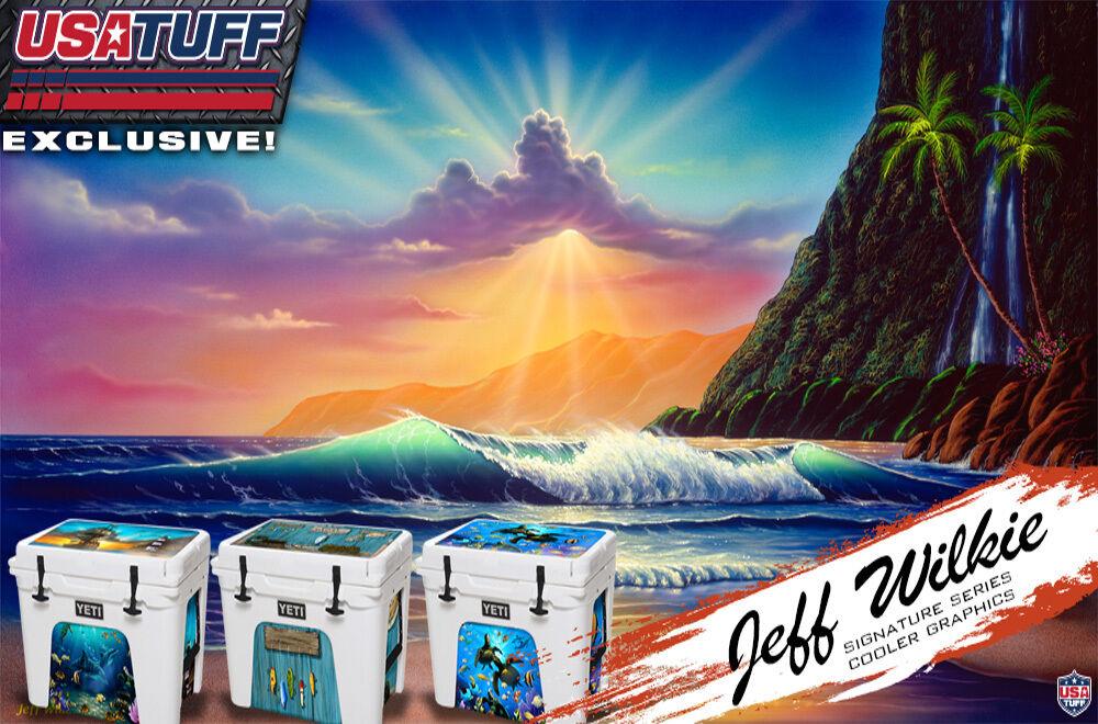 USATuff Custom Cooler Wrap Decal fits YETI Tundra 105qt L+I L+I 105qt Wing Camo b8b79b