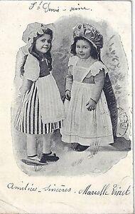 CPA-Enfants-en-Costume-Traditionnel-Charente-1904