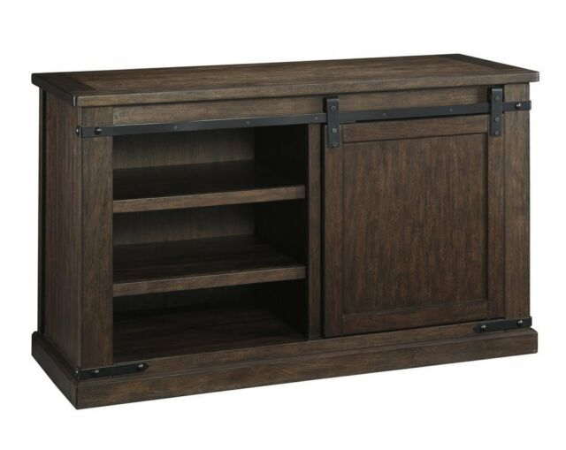 Ashley Furniture W562 28 Signature Design Budmore Tv Stand Rustic Brown New