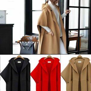 3e0e94453f4 Image is loading Batwing-Oversized-Casual-Women-Ladies-Poncho-Winter-Coat-
