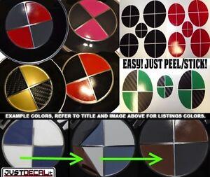 Sticker Overlay 2 Color Set Custom Hood Trunk Rim Center