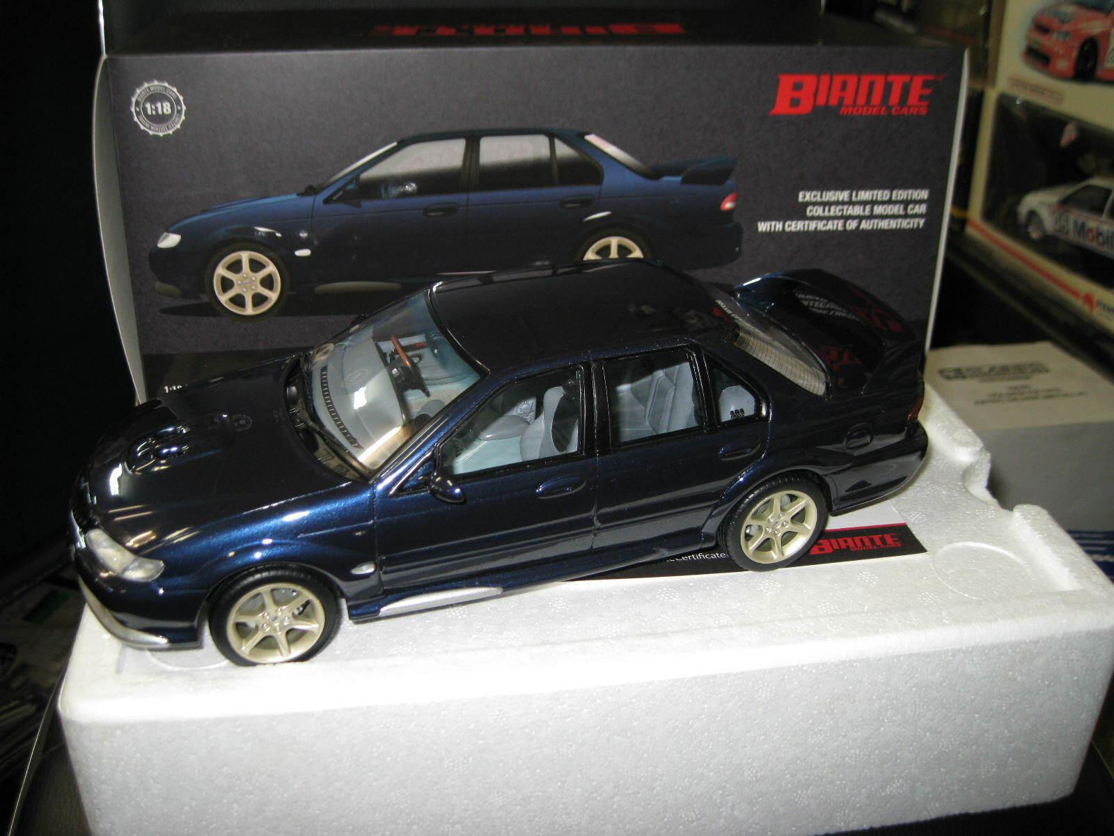 BIANTE 1.18 FORD FALCON EL GT NAVY blueE 1997  RESIN MODEL BR18308B LTD ED