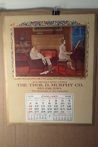L. GODDARD - JUST A SONG AT TWIGHLIGHT - 1936 LARGE SAMPLE CALENDAR