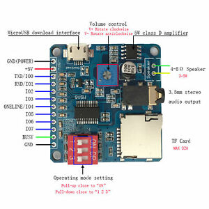 Voix-de-lecture-carte-module-MP3-Trigger-Player-SD-TF-Carte-Pour-Arduino