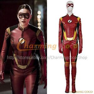 Image Is Loading The-Flash-Season-3-Jesse-Quick-Cosplay-Costume- Sc 1 St  EBay 6acdb09875