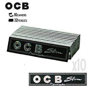 Feuille-Rouler-OCB-Premium-Noir-Slim-Lot-De-10-Carnets-Papier-cigarette-Tabac-FR