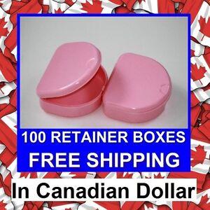 100-Pink-Denture-Retainer-Box-Orthodontic-Dental-Case-Mouth-Ortho-Brace-Whitning