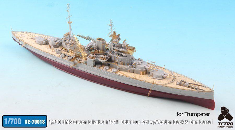 Tetra modellllerlerl SE7018 1  700 HMS drottning Elizabeth 1941 Detail Up Set for trumpetare