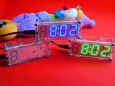DIY kit LED electronic clock microcontroller LED digital clock time thermometer