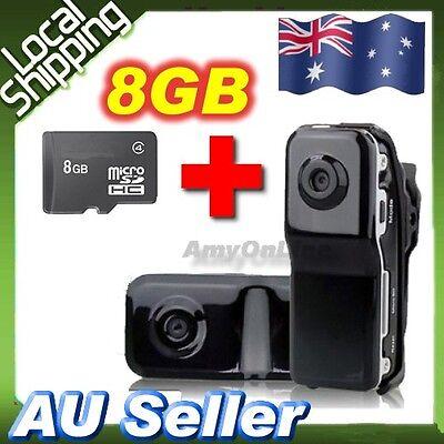 Mini Portable DV DVR Camera MD80 Video Recorder Spy Cam+8GB Card Sports Bicycle