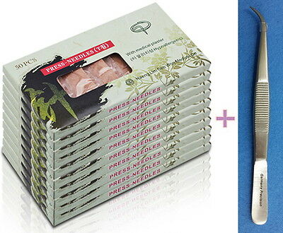 Sterile Ear Acupuncture Disposable Press Needle3000pcs +1 Forceps, HL03 Haengrim